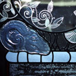 Private commission, Cast, etched and leaded glass